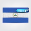 Fabric texture of the flag of Nicaragua