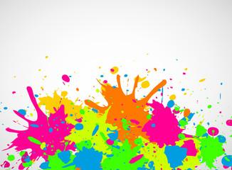 bunte farbklekse