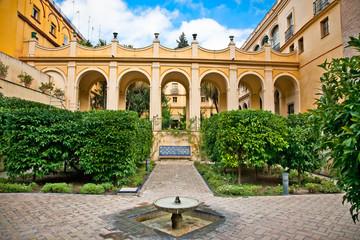 Courtyard of Casa de Pilatos, Seville, Spain