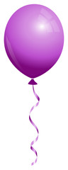 Single Purple Balloon