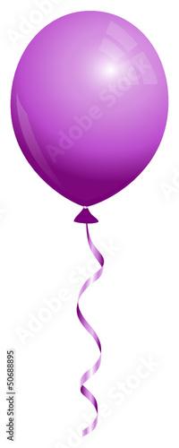 Single Purple Balloon