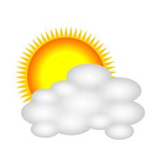 wettersymbol sonne mit wolke I