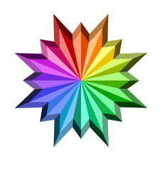 An illustration of colorful star shaped icon
