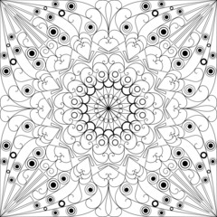 Vector patterned background. Arabesque ornament