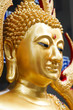 The side face of  gold buddha