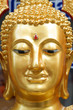 The face of gold buddha