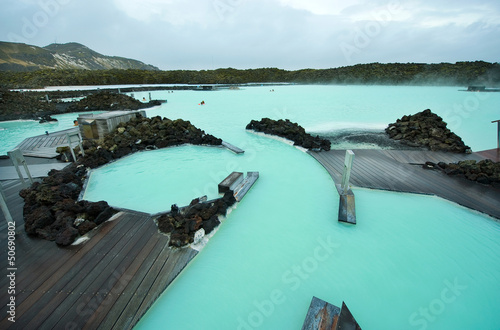 Spoed canvasdoek 2cm dik Antarctica 2 The Blue Lagoon resort