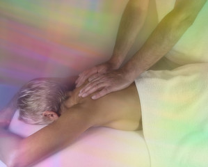 Dreamy massage, soft focus