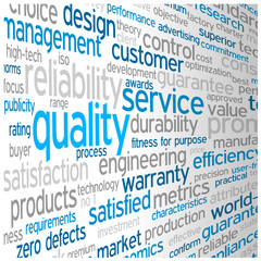 """""""QUALITY"""" Tag Cloud (guarantee service reliability satisfaction)"""