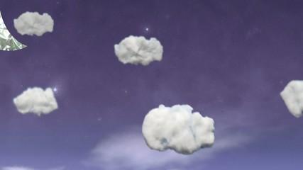 Subiendo encima de las nubes