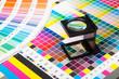 Leinwanddruck Bild - Color management in print production