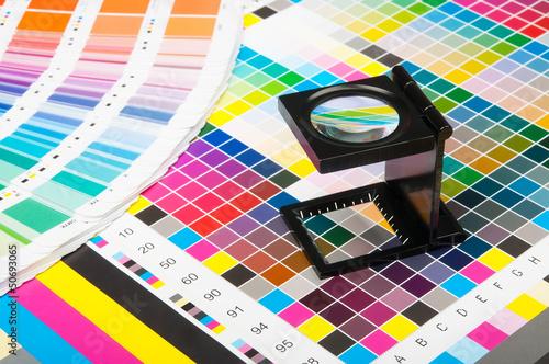 Leinwandbild Motiv Color management in print production