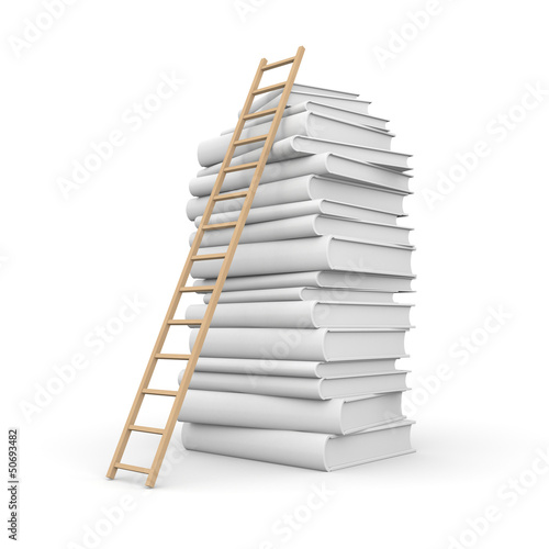 Book stack with stair