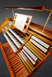Vintage organ keyboard with clipping path
