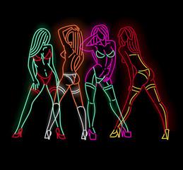 Neon ladies