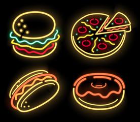 Neon fastfood
