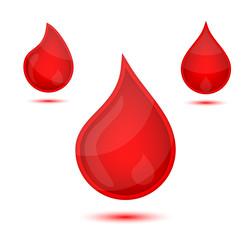 Red liquid drops icon emblem