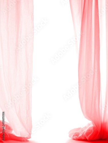 red curtain (white background with shadows)