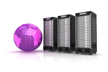 3 Webserver mit lilanem Globus