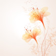 vector background with orange flowers