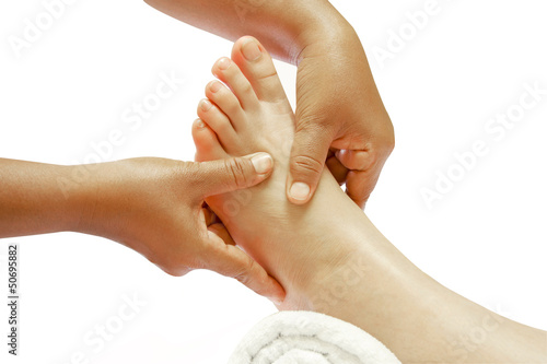 reflexology foot massage, spa foot treatment