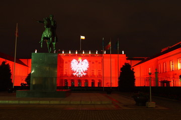 Palazzo del presidente a Varsavia