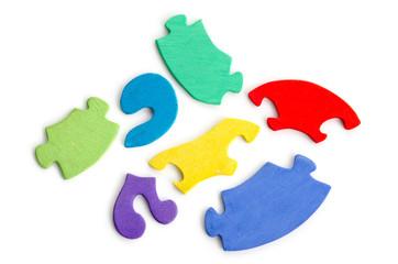 Mehrere Puzzleteile