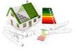 Rohbau Einfamilienhaus und Pläne, Energieeffizienz
