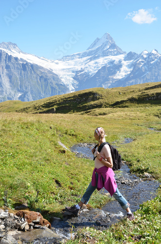 Trekking in the Swiss Alps