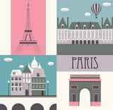 Symbols of Paris.
