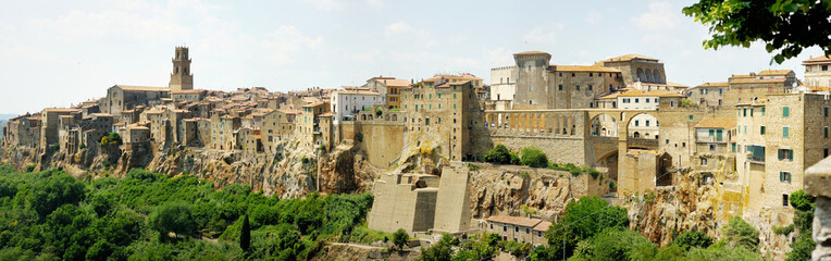 Panorama of Pitigliano in Italy