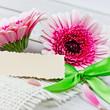 Kartenvorlage mit Blumen
