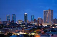 """Постер, картина, фотообои """"Skyline of Fort Worth Texas at night"""""""