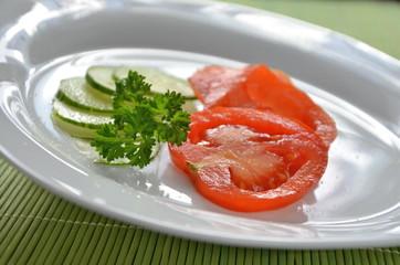 Gurken- Tomatensalat
