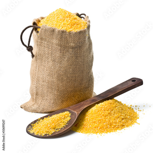 bag of ground corn