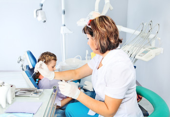 Child in a dentist's chair