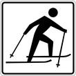 Schild weiß - Ski fahren