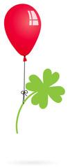 Luftballon mit Klee