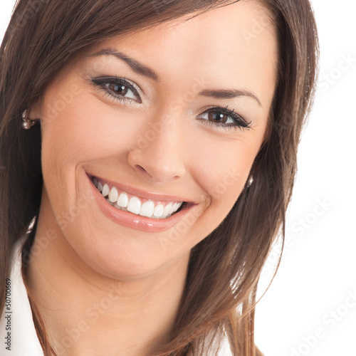 Portrait of young happy businesswoman