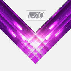 Purple Abstract Space Design for Your Text | EPS10 Background