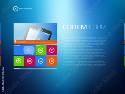 Modern Website Template | Creative Media Design Layout