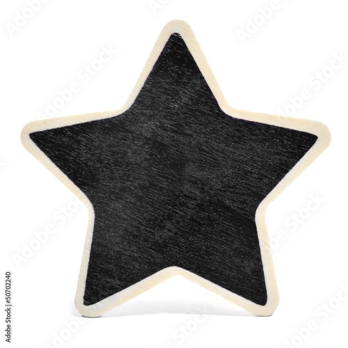 star-shaped blackboard
