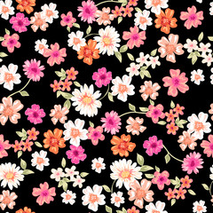 sweet daisy seamless background
