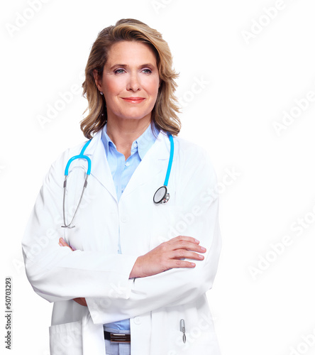 Doctor woman with a stethoscope.