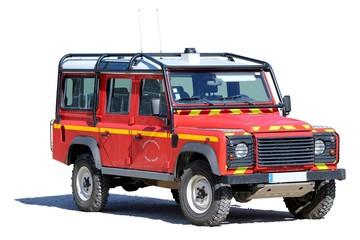 Véhicule tout-terrain des sapeurs pompiers