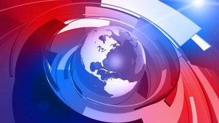 World Globe Graphic Technology Background