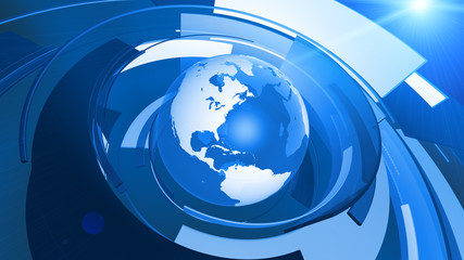 World Globe Graphic Technology Background