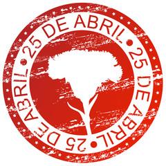 Carimbo - 25 de abril, dia da liberdade, revolução dos cravos
