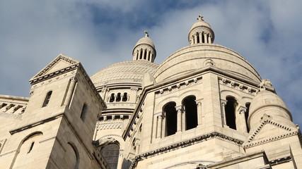 Sacre Coeur detail. Timelapse.