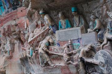 Baodingshan temple in Dazu town, Chongqing, China